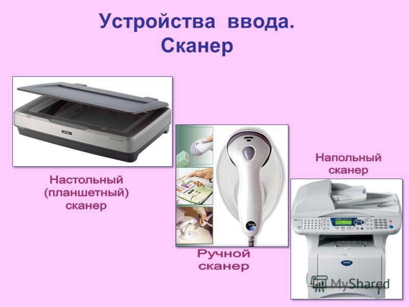 Устройства ввода. Сканер