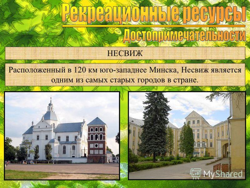 НЕСВИЖ Расположенный в 120 км юго-западнее Минска, Несвиж является одним из самых старых городов в стране.