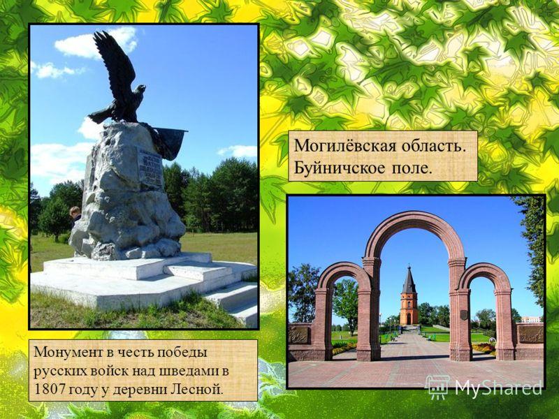 Монумент в честь победы русских войск над шведами в 1807 году у деревни Лесной. Могилёвская область. Буйничское поле.