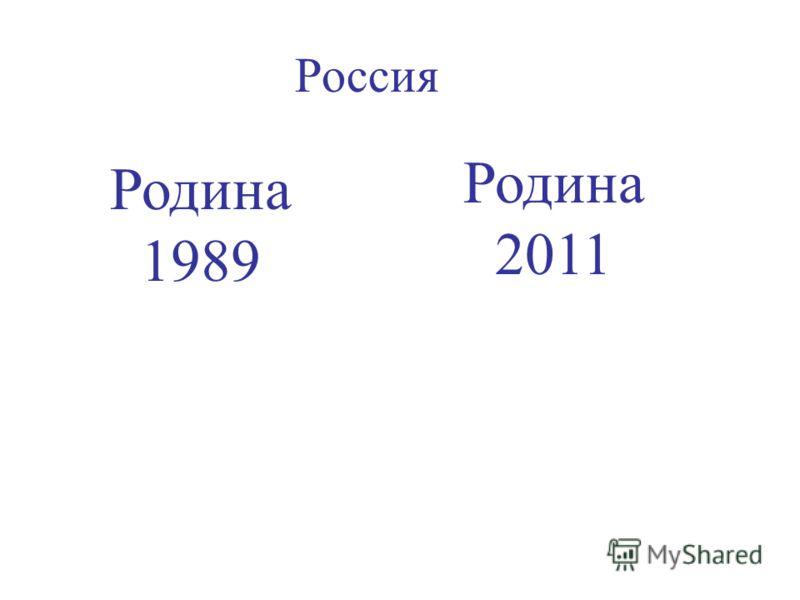 Россия Родина 1989 Родина 2011