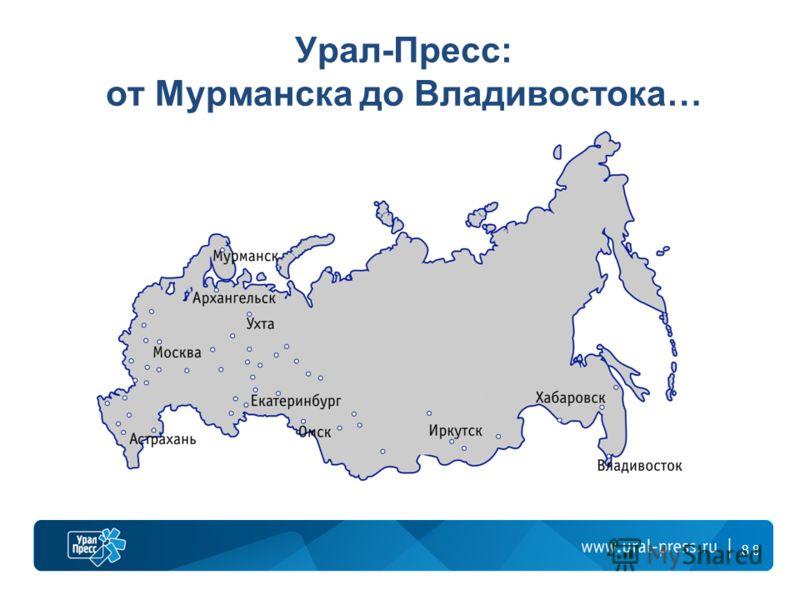 8 Урал-Пресс: от Мурманска до Владивостока… 8