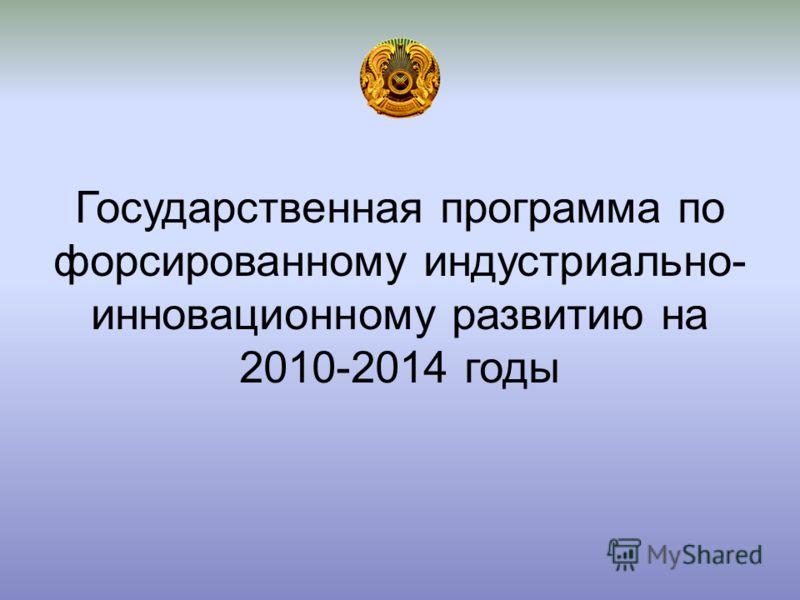 Государственная программа по форсированному индустриально- инновационному развитию на 2010-2014 годы