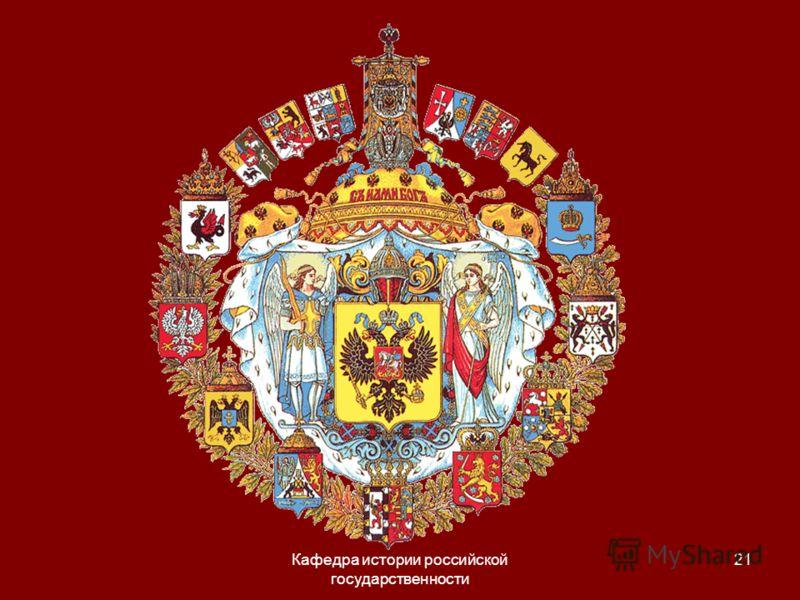 Кафедра истории российской государственности 21