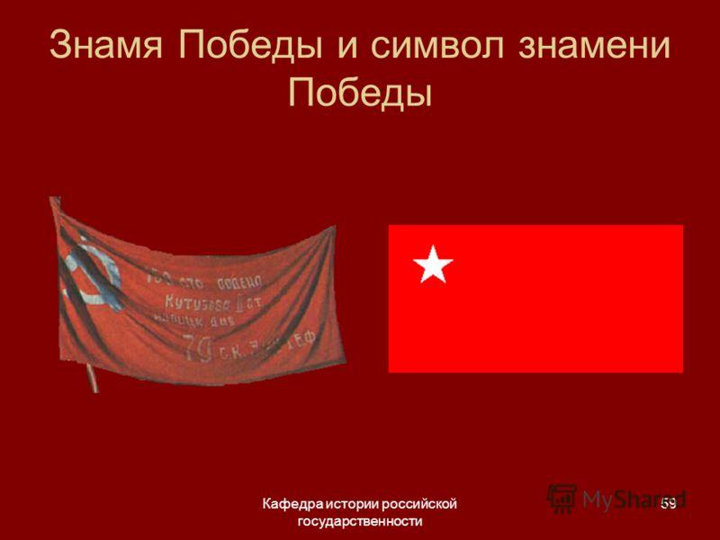 Кафедра истории российской государственности 59 Знамя Победы и символ знамени Победы