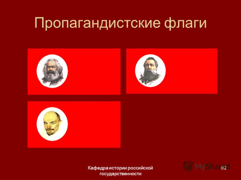 Кафедра истории российской государственности 62 Пропагандистские флаги