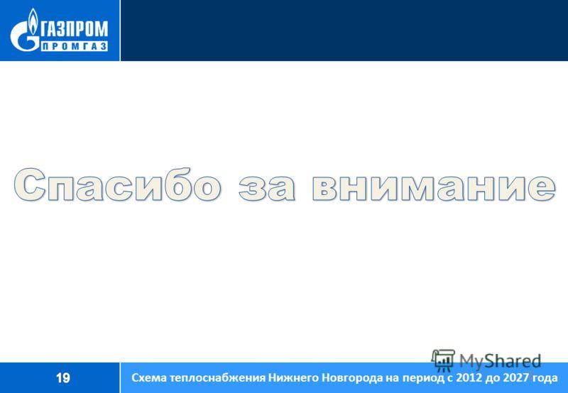 15 Спасибо за внимание Схема теплоснабжения Нижнего Новгорода на период с 2012 до 2027 года