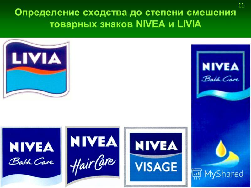11 Определение сходства до степени смешения товарных знаков NIVEA и LIVIA