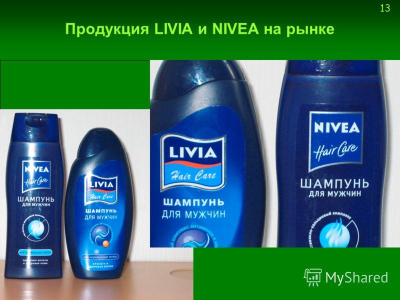 13 Продукция LIVIA и NIVEA на рынке