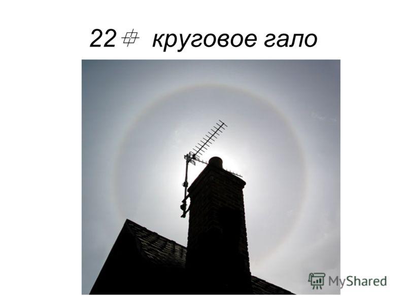 22 круговое гало