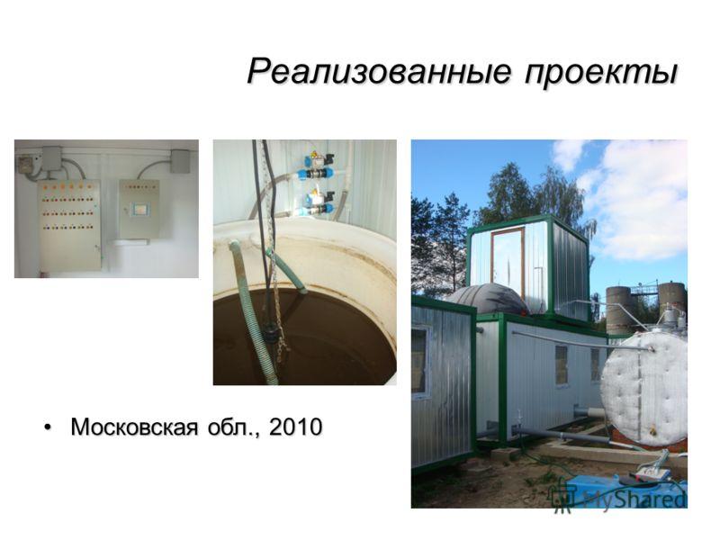 Реализованные проекты Московская обл., 2010Московская обл., 2010