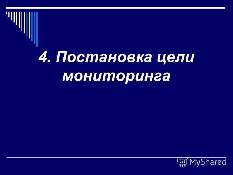 4. Постановка цели мониторинга