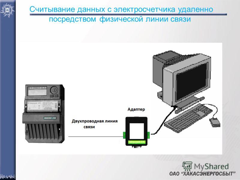 Считывание данных с электросчетчика удаленно посредством физической линии связи