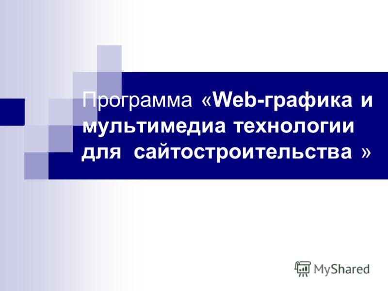 Программа «Web-графика и мультимедиа технологии для сайтостроительства »