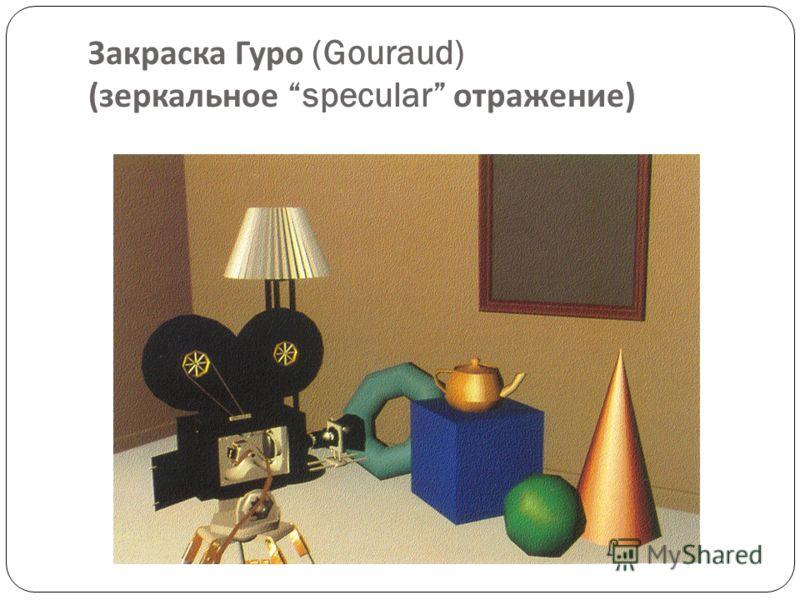 Закраска Гуро (Gouraud) ( диффузное отражение )