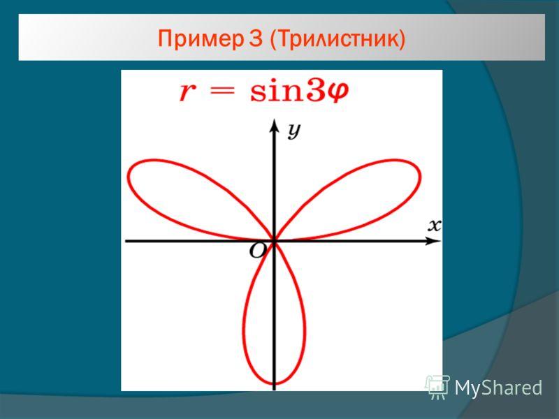 Пример 3 (Трилистник)