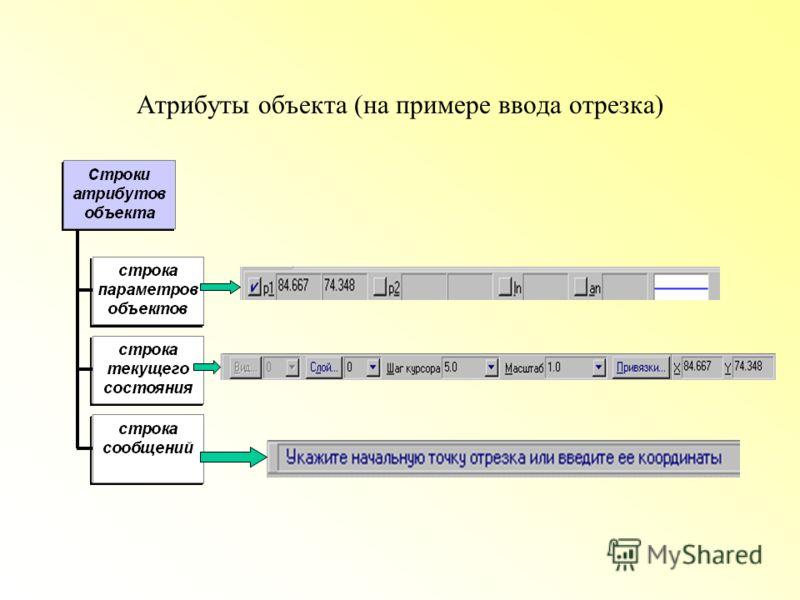 Атрибуты объекта (на примере ввода отрезка)