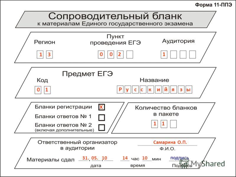 1 3 0 0 2 1 0 1 Р у с с к и й я з ы Х 1 Самарина О.П. 31. 05. 10 14 10 подпись