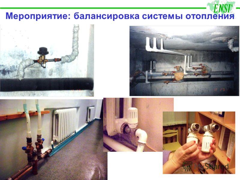 Мероприятие: балансировка системы отопления