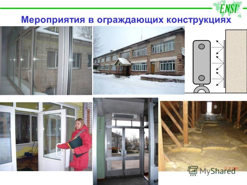 Мероприятия в ограждающих конструкциях