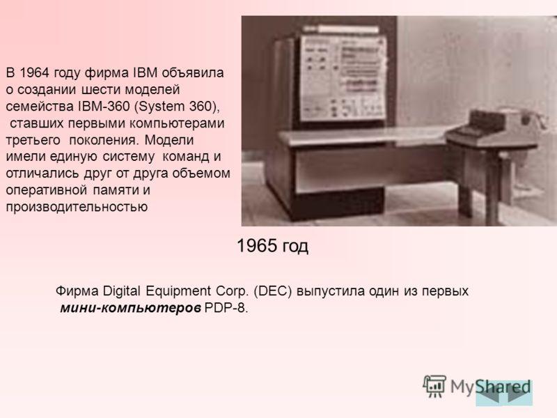 Стив Рассел разработал первую компьютерную игру. Что это была за игра, к сожалению, не известно. 1962 год Фирма IBM выпустила первые устройства внешней памяти со съемными дисками. Сотрудник Стэнфордского исследовательского Центра Дуглас Энгельбарт (D