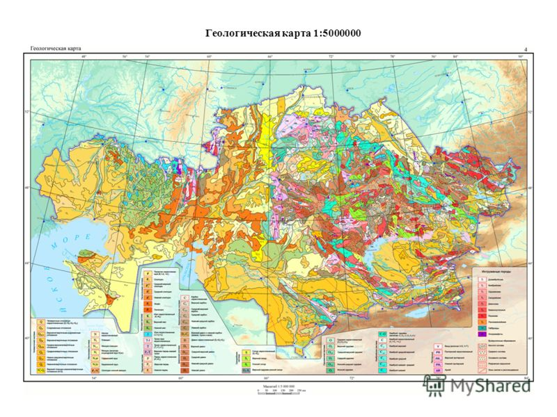 Геологическая карта 1:5000000