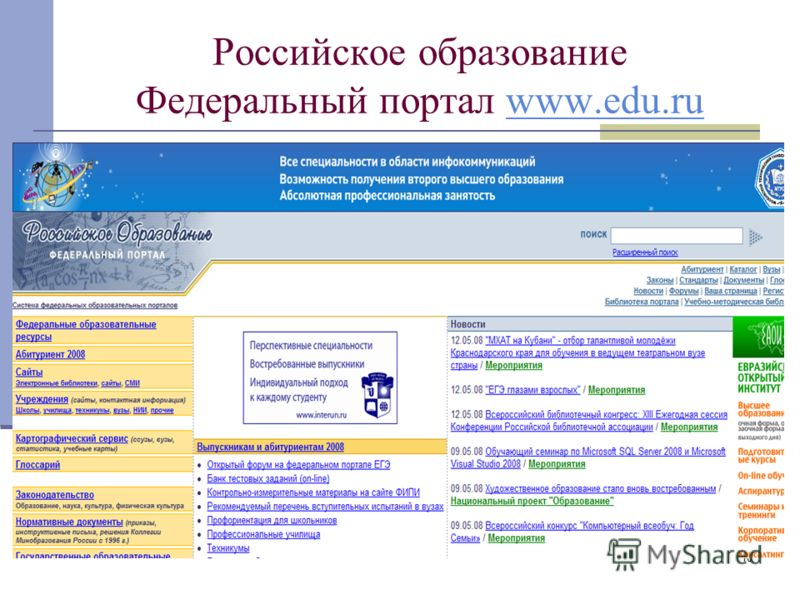 10 Российское образование Федеральный портал www.edu.ruwww.edu.ru