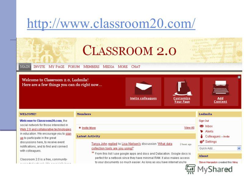28 http://www.classroom20.com/