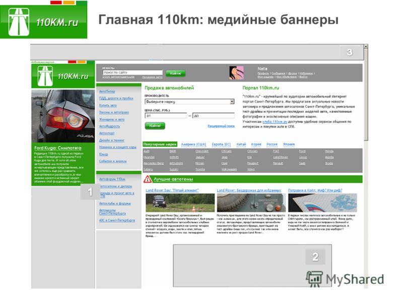 Главная 110km: медийные баннеры