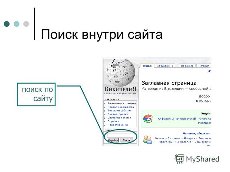 Поиск внутри сайта поиск по сайту