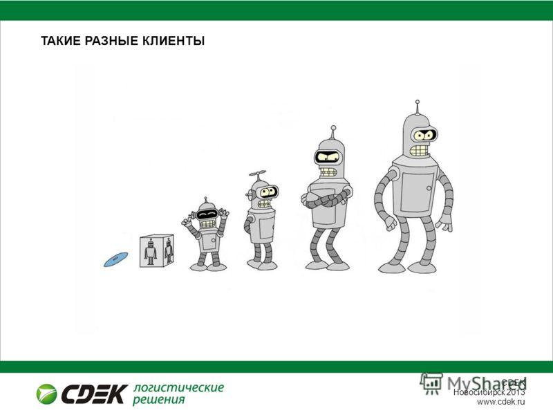 СDEK Новосибирск 2013 www.cdek.ru ТАКИЕ РАЗНЫЕ КЛИЕНТЫ