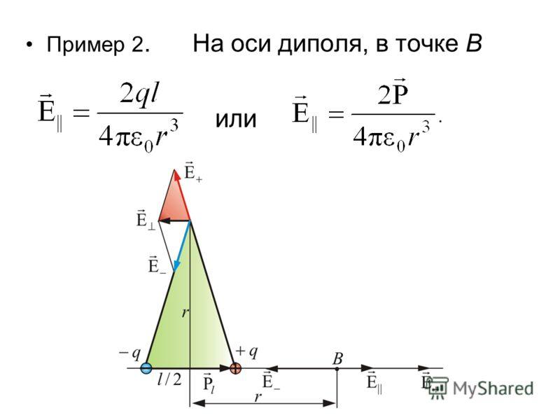 Обозначим вектор: – электрический момент диполя (или дипольный момент) – произведение положительного заряда диполя на плечо. Направление совпадает с направлением, т.е. от отрицательного заряда к положительному. Тогда, учитывая что получим: или