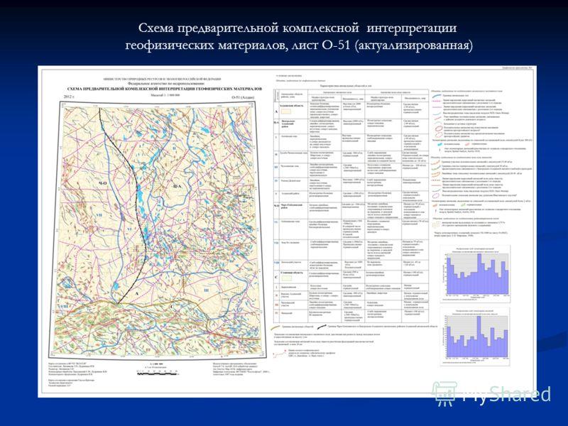 Схема предварительной комплексной интерпретации геофизических материалов, лист O-51 (актуализированная)