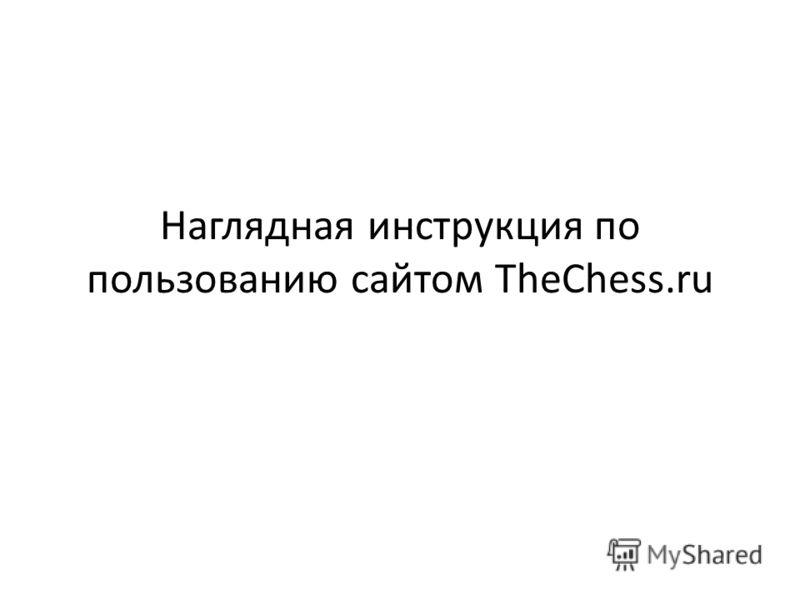 Наглядная инструкция по пользованию сайтом TheChess.ru
