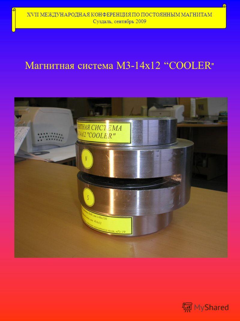 XVII МЕЖДУНАРОДНАЯ КОНФЕРЕНЦИЯ ПО ПОСТОЯННЫМ МАГНИТАМ Суздаль, сентябрь 2009 Магнитная система М3-14х12 COOLER