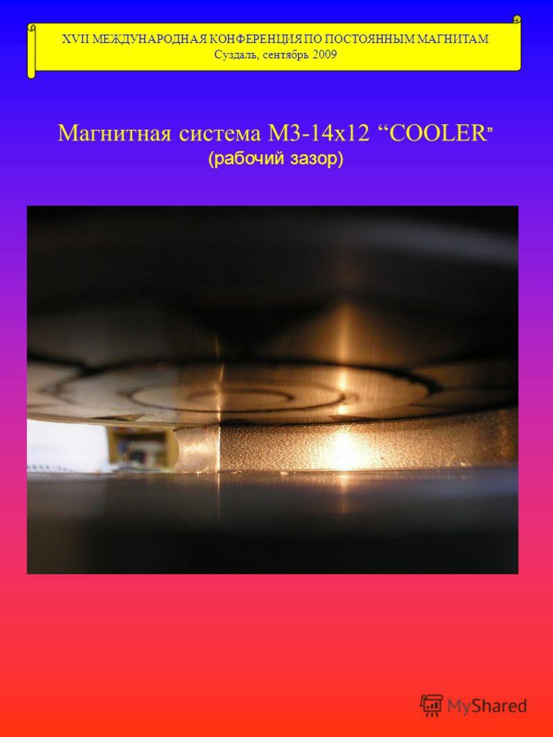 XVII МЕЖДУНАРОДНАЯ КОНФЕРЕНЦИЯ ПО ПОСТОЯННЫМ МАГНИТАМ Суздаль, сентябрь 2009 Магнитная система М3-14х12 COOLER (рабочий зазор)