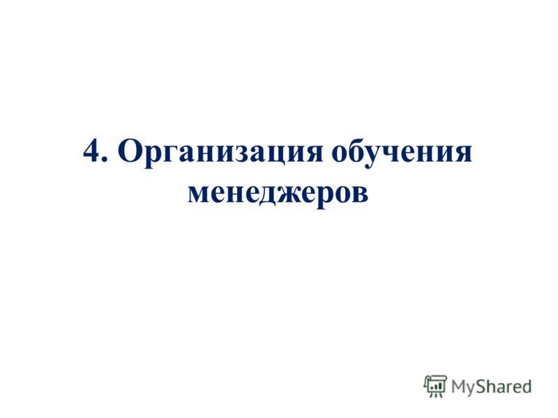 4. Организация обучения менеджеров