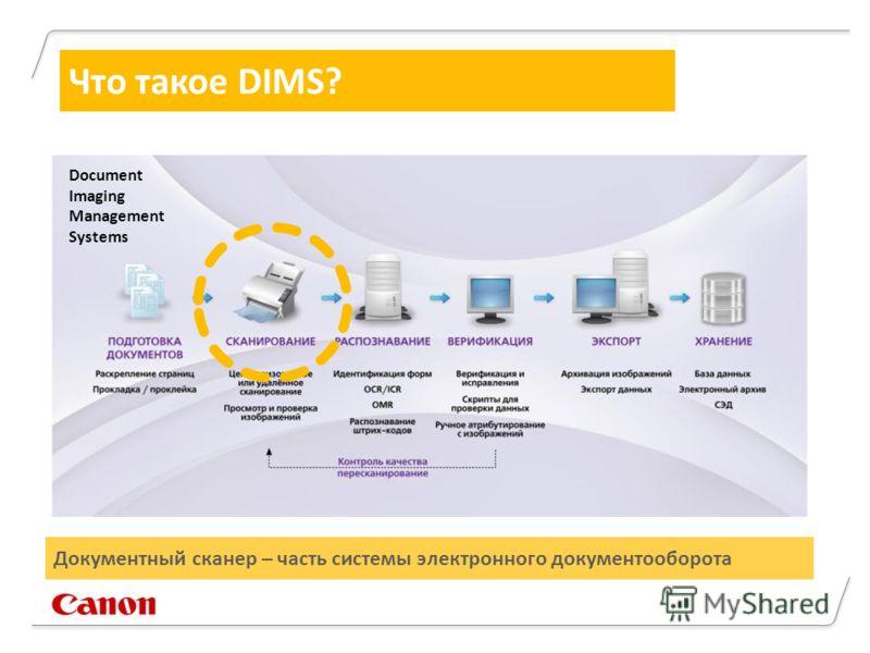 Что такое DIMS? Документный сканер – часть системы электронного документооборота Document Imaging Management Systems