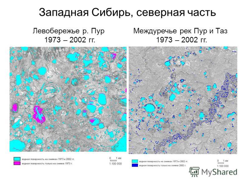 Левобережье р. Пур 1973 – 2002 гг. Западная Сибирь, северная часть Междуречье рек Пур и Таз 1973 – 2002 гг.
