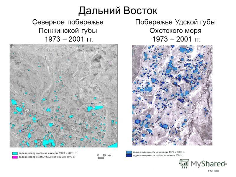 Дальний Восток Северное побережье Пенжинской губы 1973 – 2001 гг. Побережье Удской губы Охотского моря 1973 – 2001 гг.