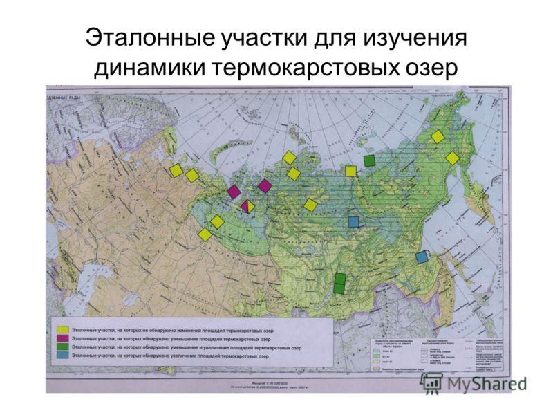 Эталонные участки для изучения динамики термокарстовых озер