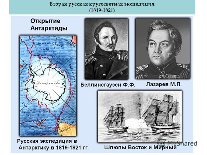 Лазарев Михаил Петрович Вторая русская кругосветная экспедиция (1819-1821) Беллинсгаузен Фаддей Фаддеефич