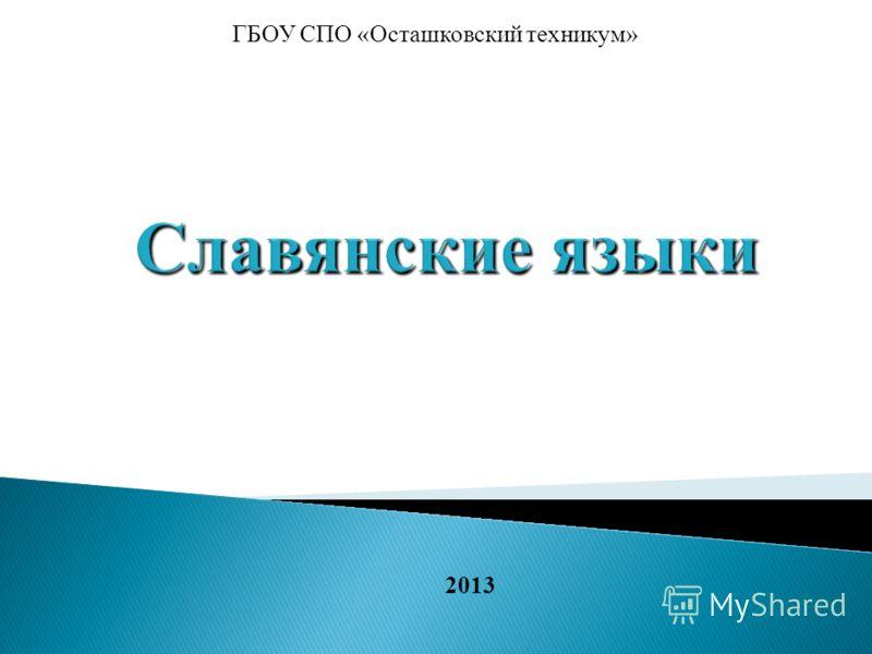 2013 ГБОУ СПО «Осташковский техникум»