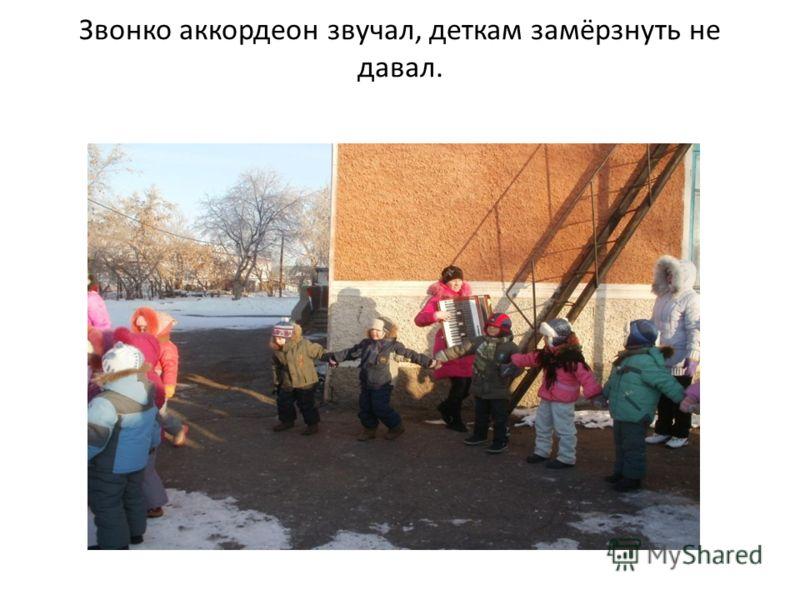 Звонко аккордеон звучал, деткам замёрзнуть не давал.