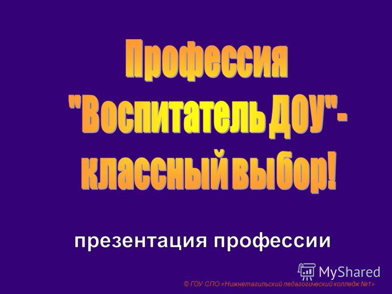 © ГОУ СПО «Нижнетагильский педагогический колледж 1»