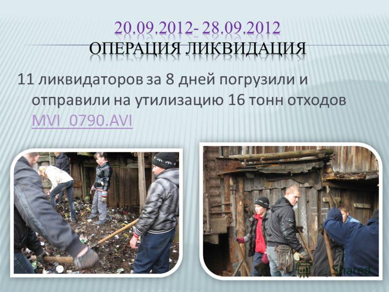 11 ликвидаторов за 8 дней погрузили и отправили на утилизацию 16 тонн отходов MVI_0790.AVI MVI_0790.AVI