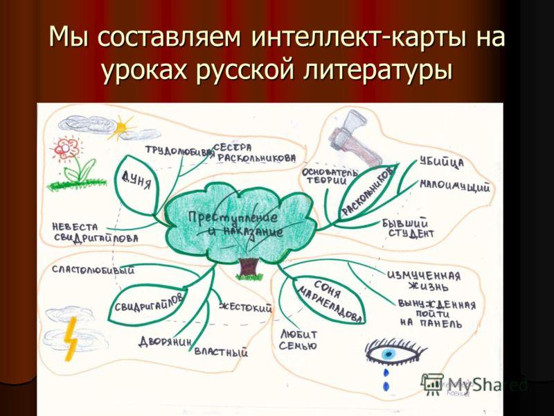 Мы составляем интеллект-карты на уроках русской литературы