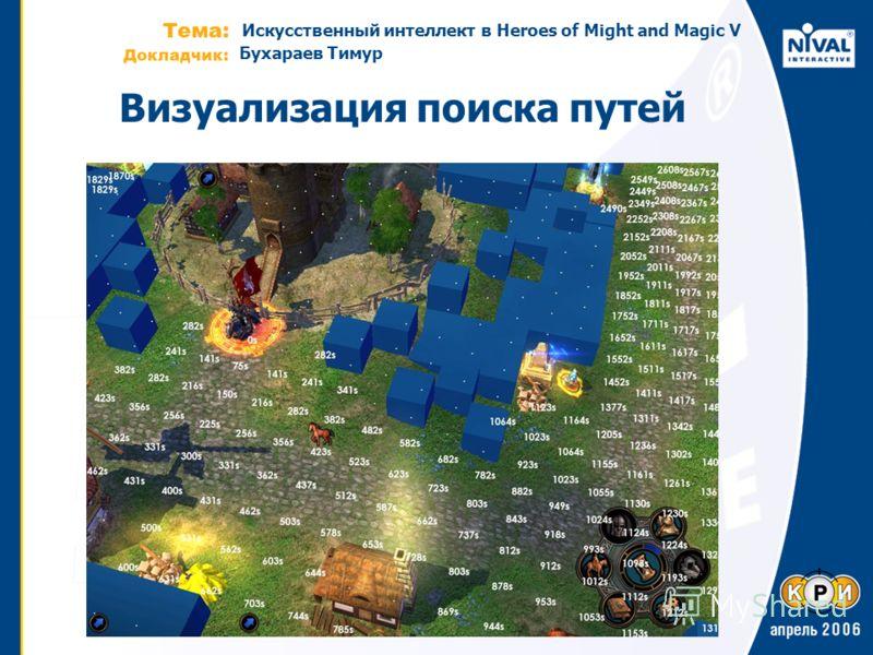 Искусственный интеллект в Heroes of Might and Magic V Бухараев Тимур Визуализация поиска путей