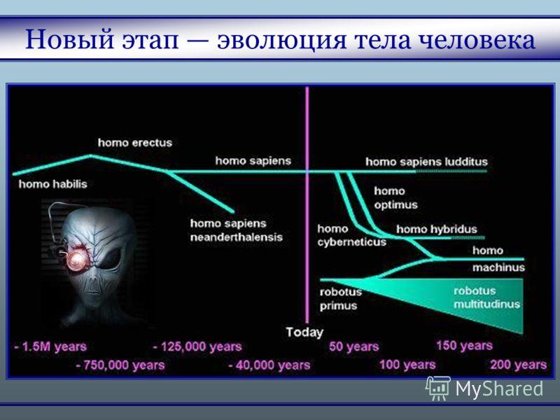 Новый этап эволюция тела человека