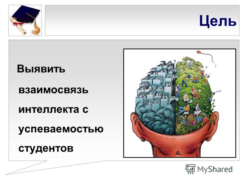 Цель Выявить взаимосвязь интеллекта с успеваемостью студентов