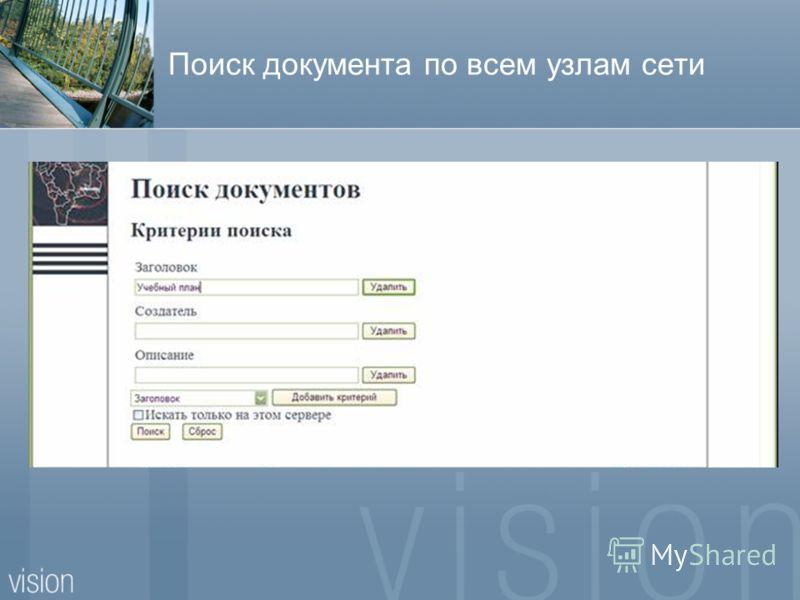 Поиск документа по всем узлам сети